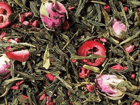 Grünteemischung Sencha Cranberry Rose